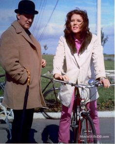 """""""The Avengers"""" Patrick Macnee and Diana Rigg"""