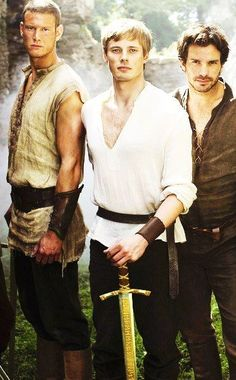 Percival, Arthur and Lancelot | Tom Hopper, Bradley James and Santiago Cabrera