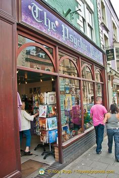 The Psychic Piglet is a new age shop at 8 High Street, Glastonbury