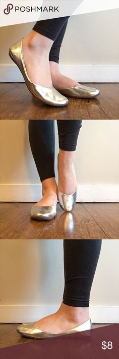 Silver Flats, Size 9 Xhilaration metallic silver flats from Target, worn only a few times and in nice condition. Xhilaration Shoes Flats & Loafers