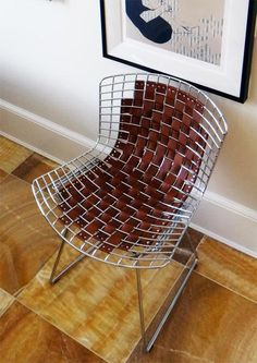 How To DIY the Leather Bertoia Chair Hack from Darlene & Brian's House Tour Apartment Therapy Tutorials | Apartment Therapy