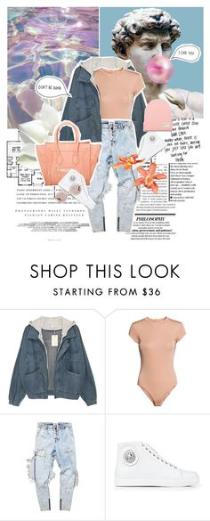 """""""Untitled #405"""" by inkcoherent ❤ liked on Polyvore featuring Kerr®, H&M, Versus, BOBBY and Miu Miu"""