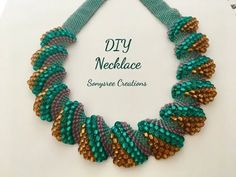Flat Cellini Stitch Beaded Necklace ( Super Easy Tutorial) - YouTube
