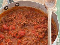 Klassieke bolognesesous Sauces, Chili, Dips, Soup, Beef, Meat, Chile, Dip, Soups