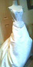 St Pucchi Ivory Silk Sleeveless Corset Sweetheart Ball Gown Wedding Dress 10