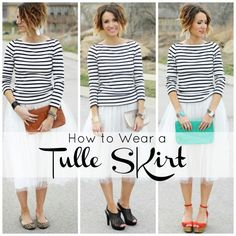 How to wear a tulle skirt- change your accessories!
