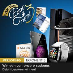 Doe gratis mee aan Glow's Exponent 3 verloting & ontdek DIRECT of je een iPhone 6, Zalando bon t.w.v. 500€ of 1 van de 4 andere prijzen wint.  https://glowvip.be/html/nl/index.html?promcode=pinterestnl