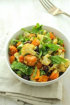 Roasted Sweet Potato Salad with Ginger Miso Dressing | The Fitchen | Bloglovin'