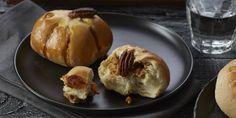 Boodschappen - Gevulde pompoenbroodjes