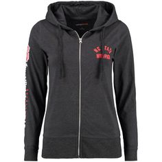 NC State Wolfpack Women's Sunset Full-Zip Jersey Hoodie - Charcoal - $35.99