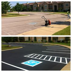 Sealcoating helps protect asphalt from the harmful effects of the weather as well as petroleum based products like gasoline and oil, while proper line striping directs traffic safely and efficiently.  Sealcoating Helps:  • Weatherize • Minimize Maintenance • Keep Parking Lot Safe #Sealcoating #ParkingLotMaintenance #Striping #ABCPaveandSeal