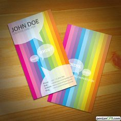 Business card to catch your clients attention? To make them remember and outshine from the rest of the Boring cards in their holder? Think ideas Business Card 03 Cool Business Cards, Business Card Design, Website Names, Brochure Cover, Name Cards, Creative Director, Illustration Art, Rainbow, Deviantart