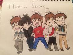 Thomas Sanders CHIBI (I got moralitys clothes wrong I know)
