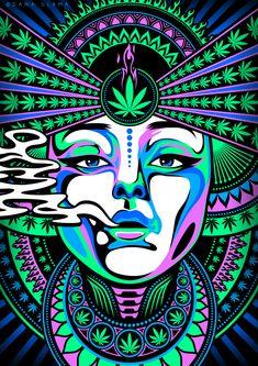 420 cannabis dope drawing drugs leaf maryjane neon psychedelic psytrance smoke t… – Design Arte Dope, Dope Art, Trippy Drawings, Art Drawings, Psychedelic Art, Arte Hippy, Arte Do Hip Hop, Drugs Art, Arte Alien