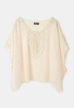 Boxy Crochet Top Natural
