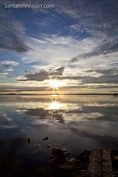 Pôr-do-sol em Ranua na Lapônia Finlandesa