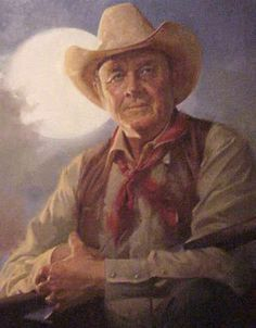 Portrait of Ben Johnson Ben Johnson - oil painting on display at National Cowboy & Western Heritage Museum in Oklahoma City, OK Cowboy Pictures, Art Pictures, Cowboy Images, Cowboy Horse, Cowboy Western, Old Western Movies, Western Film, Betsey Johnson, Real Cowboys