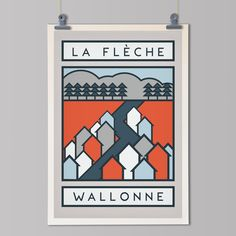 """cadenced: """"The Mur de Huy stars in this Wednesday's La Flèche Wallonne. The poster is part of the Handmade Cyclist's The Routes series. Bicycle Tattoo, Bicycle Art, Design Poster, Graphic Design, Logo Design, Velo Vintage, Vintage Travel, Bike Illustration, Bike Poster"""
