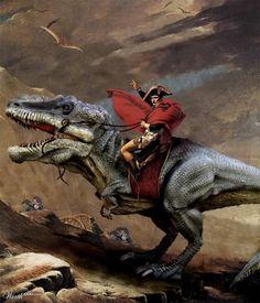 T-rex portrait