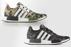 Where can you buy these Bape x Adidas Nmd when they come out on November Adidas Nmd R1, Adidas Sneakers, Skate, Adidas Camouflage, Converse, Vans, Yeezy 350, Shoe Closet, Trends