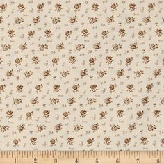 Kaufman Sevenberry Petite Garden Scattered Flowers Natural from @fabricdotcom  From the world renowned Sevenberry for Robert Kaufman, this cotton print fabric is made in Japan and features beautiful floral designs with smaller flowers on the background on high quality cotton. Perfect for quilting, apparel and home decor accents. Colors include peach and brown.
