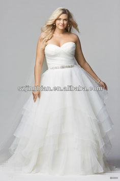 plus size wedding dresses  1.neckline:strapless  2.fabric:tulle  3.skirt: ball gown  4.details:beaded belt