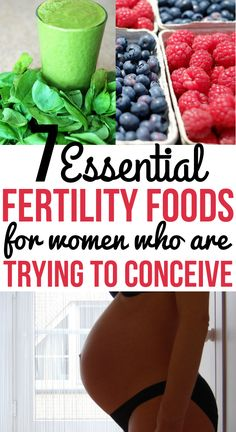 Trying to conceive? Try these 7 fertility boosting foods to increase your chances of getting pregnant. Best fertility foods for women to help you get pregnant faster. #fertility #fertilitydiet #pregnancy