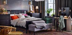 HEMNES black brown Ikea Bedroom, Bedroom Inspo, Master Bedroom, Bedroom Ideas, Bedroom Decor, Bedroom Black, Black Bedding, Ikea Hemnes Bed, Ikea 2018