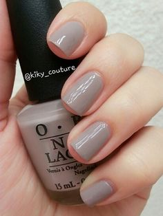 A gorgeous light grey taupe creme, great formula. Used 2 coats - Nailpolis: Museum of Nail Art