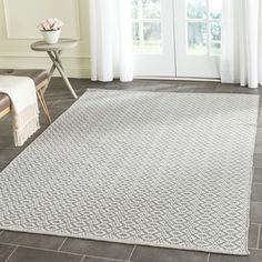 Safavieh Hand-Woven Montauk Ivory/ Grey Cotton Rug (4' x 6') | Overstock.com Shopping - The Best Deals on 3x5 - 4x6 Rugs