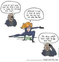 Black Widow's audition for Avengers