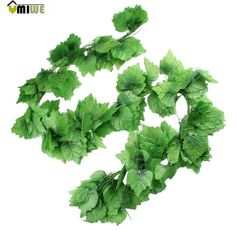 Umiwe Silk Grape Leaves Ivy Artificial Home Garden Wall Wedding Decoration(Green, 2.9 M)
