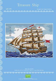 PINN Cross Stitch : Treasure Ship Chart BookPINN Chart BooksonBest for Feng-Shuicategory
