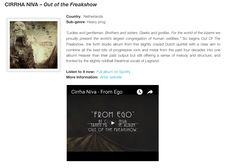 """""""...all the best bits of progressive rock and metal from the past four decades into one album"""" - CD Review - Out of the Freakshow, - BlogProg (NL)"""
