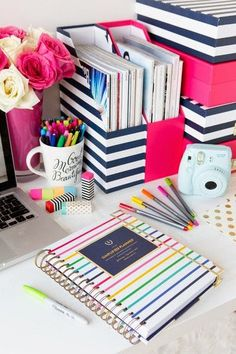 I like this in red w/ black & white stripes. The 2015 Simplified Planner - 16 Well Ordered DIY Planner and Journal Tutorials Notebook Organisation, School Organization, Organizing Ideas, Diy Room Organization, Folder Organization, Desktop Organization, Simplified Planner, Diy Kit, Ideas Para Organizar