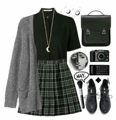 Would you like to add a little edgy style to your wardrobe? Discover 15 items an. - Would you like to add a little edgy style to your wardrobe? Discover 15 items and more than 100 com - Teen Fashion Outfits, Edgy Outfits, Cute Casual Outfits, Mode Outfits, Fashion 2017, Fall Outfits, Fashion Ideas, Skirt Outfits, Emo Fashion
