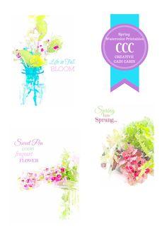 Spring Watercolor Printable Collection