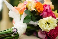 mori Lee for a bright & modern wedding at ringwood hall. Bright wedding bouquet.   Image by One Wedding Photography  Read more: http://bridesupnorth.com/2015/08/12/mori-lee-for-a-bright-modern-wedding-at-ringwood-hall/