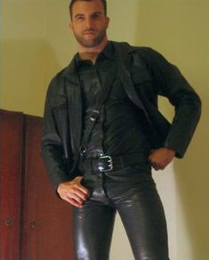 Rubber and leather bondage enthusiast NSFW