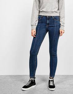 Bershka Ukraine - Skinny fit central seam jeans