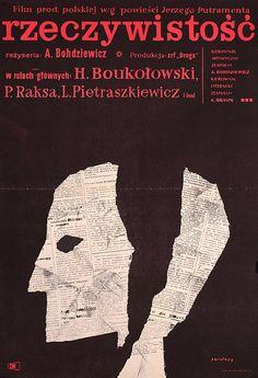1961 Polish poster for REALITY (Antoni Bohdziewicz, Poland,...