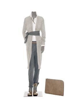 Look 31 Brunello Cucinelli Spring Summer Fashion, Winter Fashion, Soft Summer Color Palette, Cool Outfits, Casual Outfits, Knit Fashion, Women's Fashion, Brunello Cucinelli, Comfortable Fashion