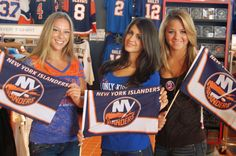 Items available at the Islanders Team Store at Nassau Coliseum... Mini Flags - 9 dollars; 1255 Hempstead Turnpike, Uniondale, NY 11553; Call: 516-501-6726/6728; Email: Merchandise (@) newyorkislanders.com. As modeled by members of the 2012-13 Islanders Academy Mortgage Ice Girls.