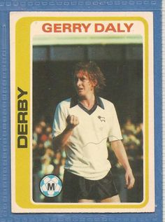 TOPPS FOOTBALLERS PALE BLUE 1979 #126 GERRY DALY Derby County