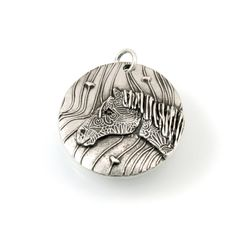 Handmade Sterling Silver Horse Pendant Chain Optional, 1080a