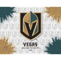 """You already have the perfect Vegas Golden Knights outfit; now you just need to decorate your home to match. Do just that by hanging this Vegas Golden Knights 24"""" x 32"""" Printed Canvas Art on the wall. This cool art piece features a high-quality, digital print for an image that will really pop! Vegas Golden Knights Logo, Canvas Wall Art, Canvas Prints, Holland Bar Stool, Small Canvas, Cool Art, Graphic Art, Art Pieces, Printed"""