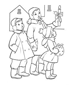 classic christmas coloring pages christmas scenes christmas colors kids christmas christmas carol
