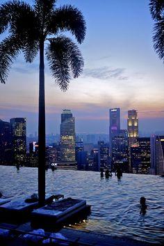 Marina Bay Sands Singapore Rooftop Pool, Singapore City, Singapore