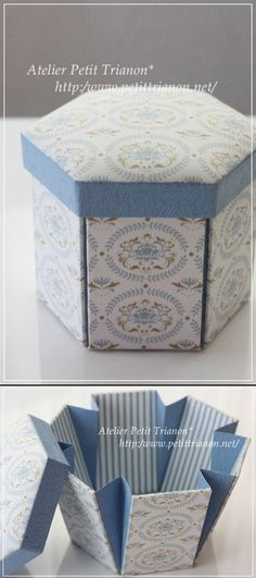 Don't need the cushion top of the box, but the way the box opens is so cute. Could be fun for a treat box (cupcakes and such) Diy Gift Box, Diy Box, Diy Gifts, Gift Boxes, Origami Paper, Diy Paper, Paper Crafts, Oragami, Exploding Box Card