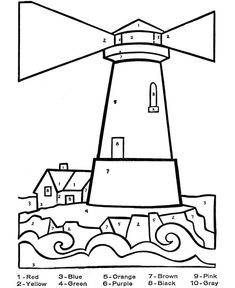 Lighthouse keepers lunch coloring book pages ~ Free Printable Lighthouse Coloring Pages For Kids ...